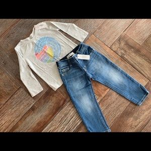 Nwt Gymboree girls wave 🌊 shirt w/jeans
